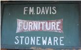 F. M. Davis Furniture Stoneware sign